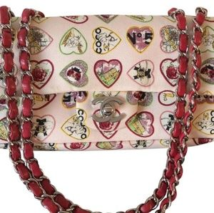 Chanel Classic Flap Hearts Shoulder Bag